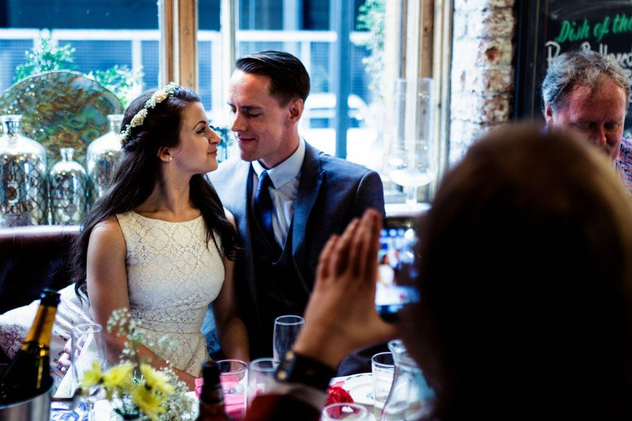 Richmond Tearooms, Manchester : Lizzie & Ashley - Manchester wedding photographer: James Harris Photography.