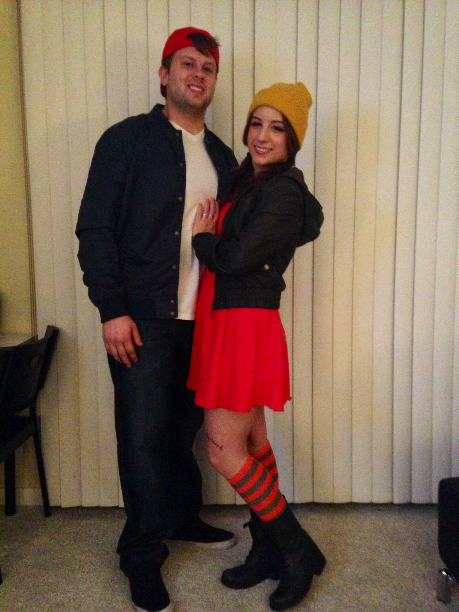spinelli & tj halloween couples costumes from recess on disney