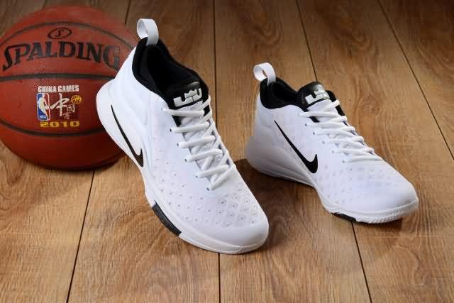 f6c5587631f Cheap Nike LEBRON Witness 2 FLYKNIT White Black Mens shoes