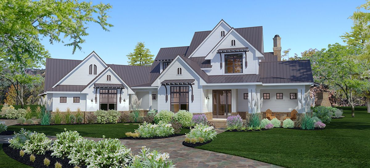 Plan 16853wg Elegant 3 Bed Farmhouse With Great Outdoor Living Spaces Farmhouse Style House Modern Farmhouse Exterior Modern Farmhouse Plans