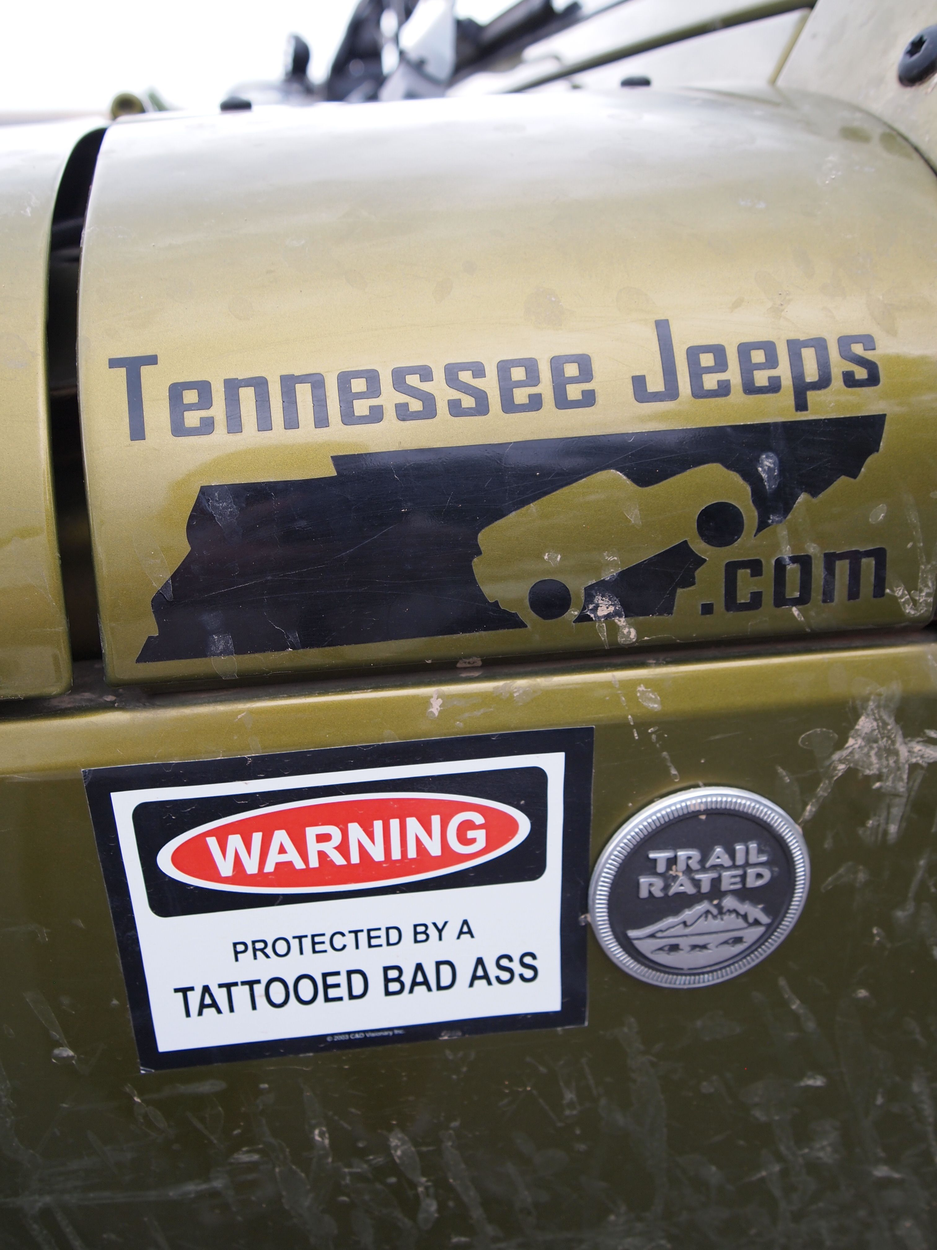 Jeep warning and it's a Tennessee Jeeper!