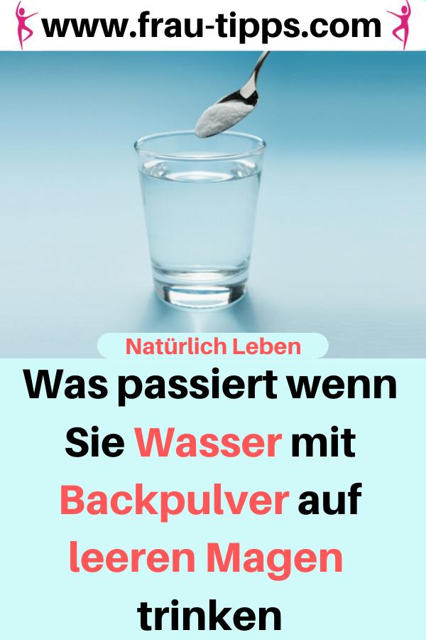 Abnehmen durch Trinkwasser mit Backpulver