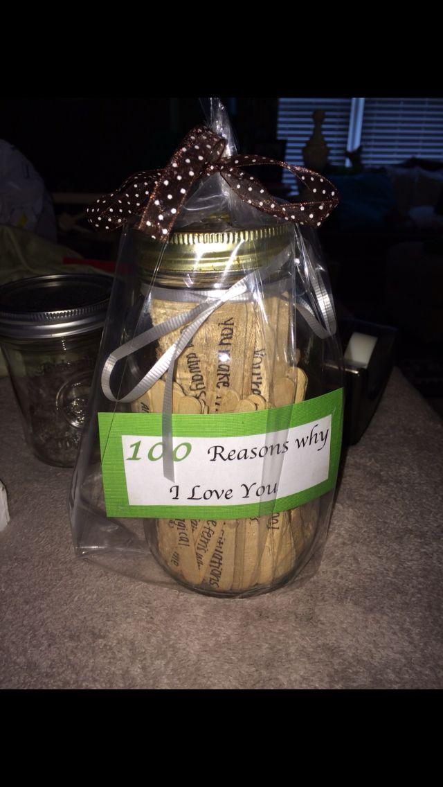 100 Reasons Why I Love You Inside A Mason Jar Reasons Why I Love You Reasons I Love You 100 Reasons Why I Love You