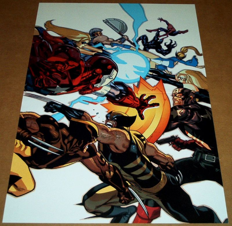 VENOM VS SPIDER-MAN POSTER DAKEN VS WOLVERINE NEW AVENGERS #56 CAPTAIN AMERICA X