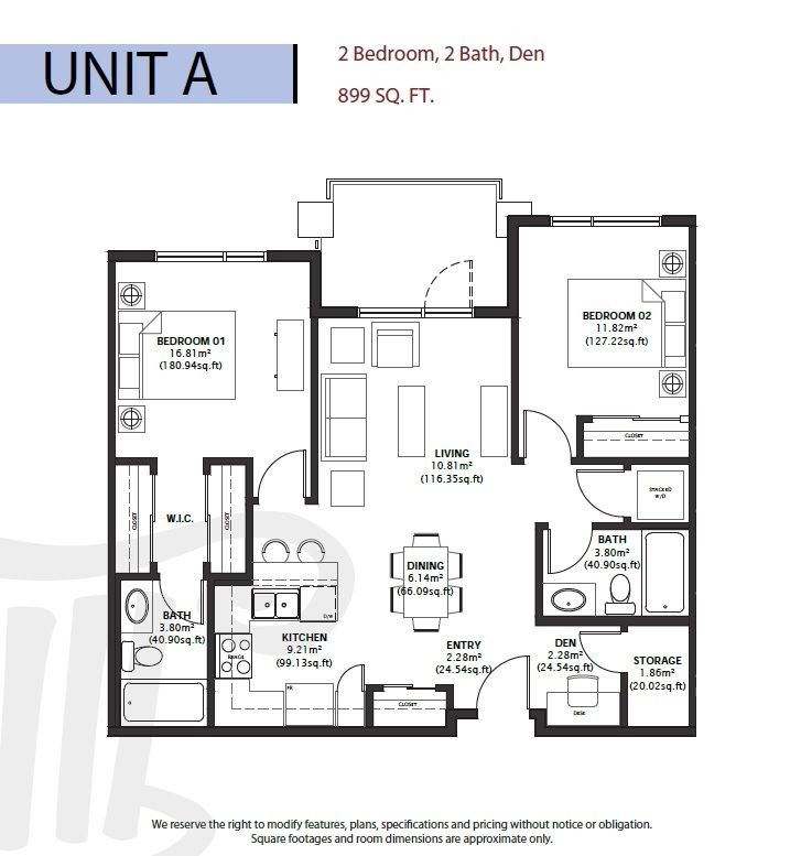 Six different floor plans range from 678 to 998 square for Different floor plans
