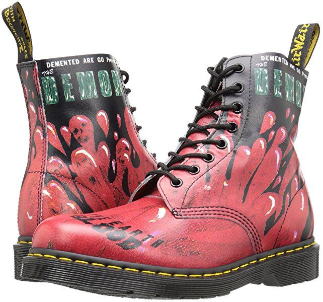 af2ec8ca2f3947 Dr Martens Demented Are Go Pascal Boots (Black Red)  Amazon.de  Schuhe    Handtaschen
