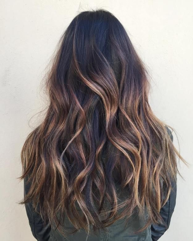 20 Impressive Haircuts and Hairstyles for Long Dark Brown Hair #caramelbalayage