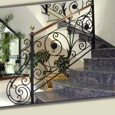 modern stair railing ideas iron safety grill design for ...