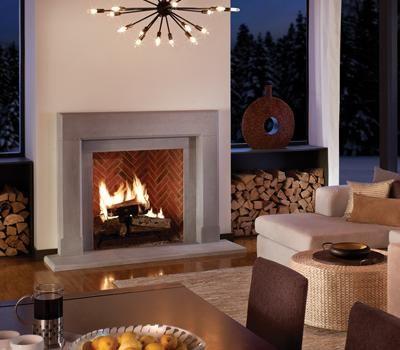 Cast Stone Fireplace Mantels - very elegant. Not a fan of the ...