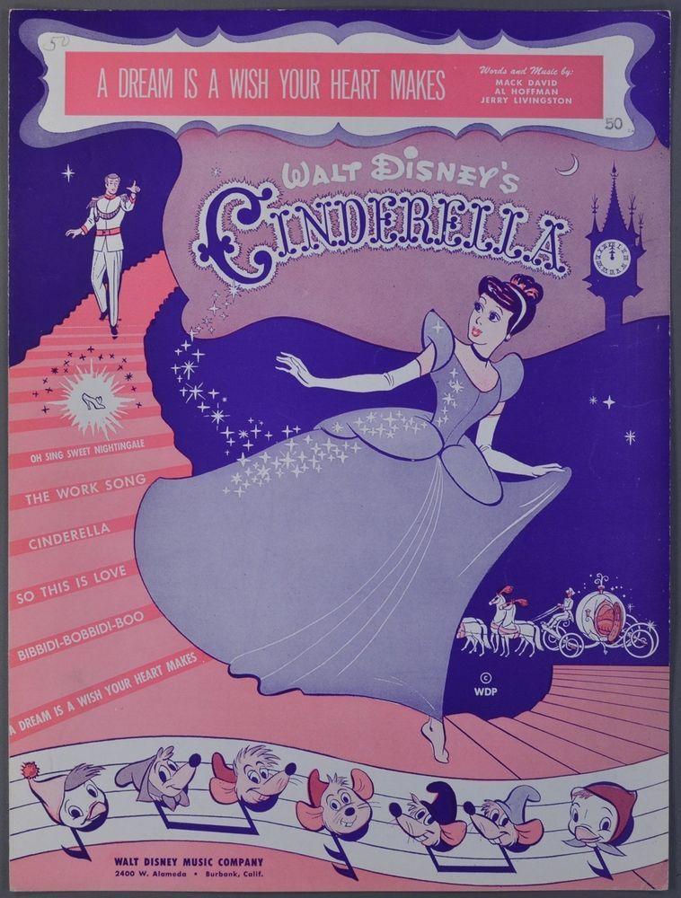 Walt Disney S Cinderella Sheet Music A Dream Is A Wish Your Heart