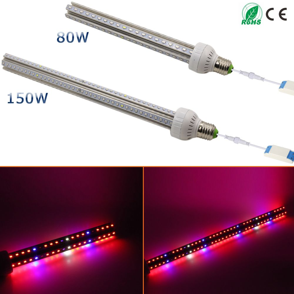 1pcs Lot 80w 150w Ac85 265v Full Spectrum Led Grow Light For Flowering Plant And Hydroponics System Led A Led Grow Lights Led Grow Light Bulbs Grow Light Bulbs
