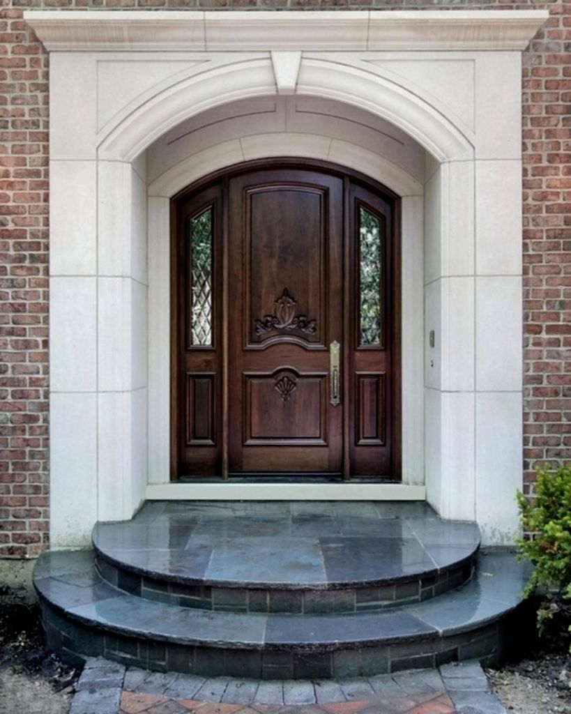 Pin by Mope Durojaiye on front door & steps in 2019 | Wooden front House Door Step Ideas on