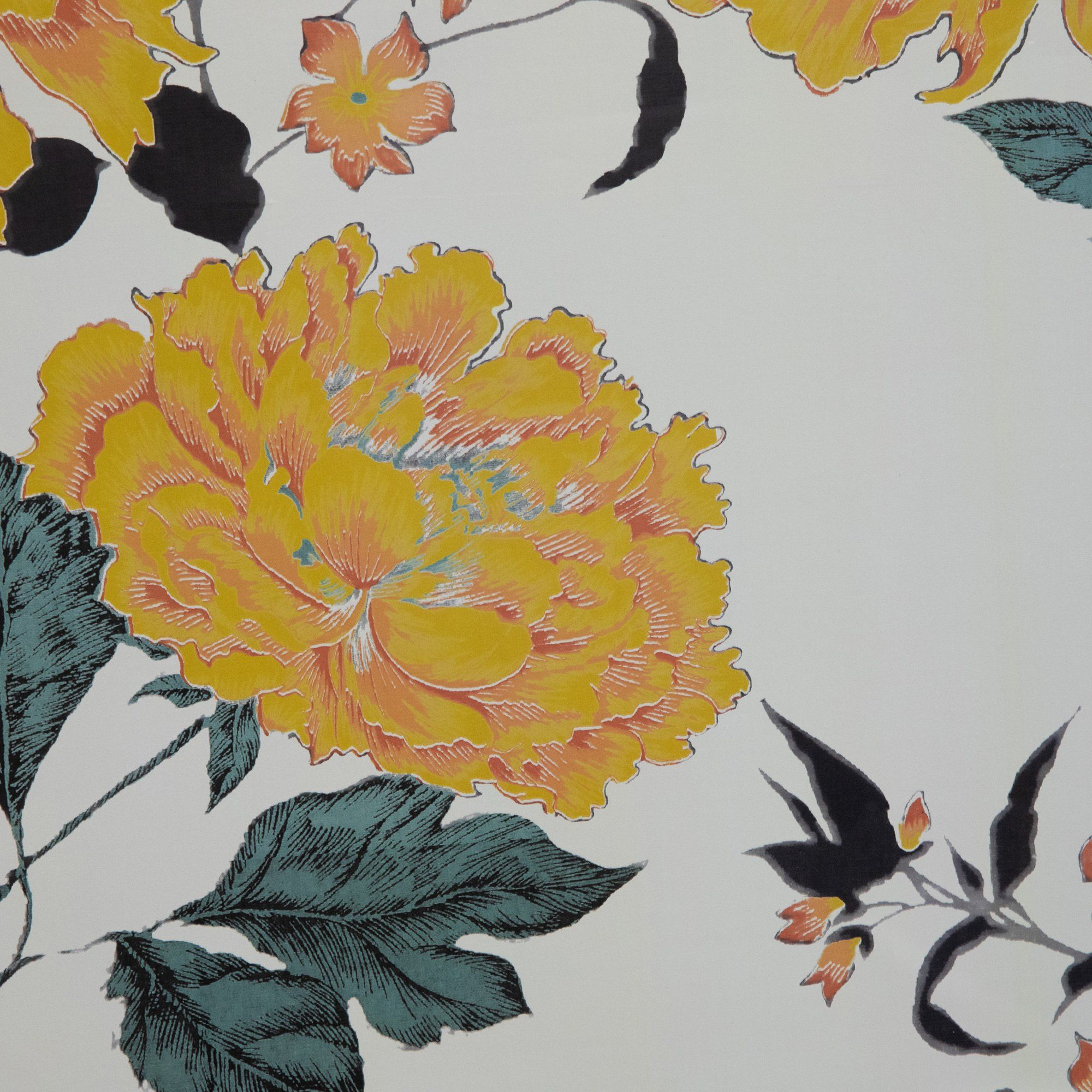 Yellow Vintage Floral Peel And Stick Wallpaper By Drew Barrymore Flower Home Walmart Com Peel And Stick Wallpaper Wallpaper Floral Wallpaper