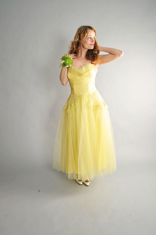 S lemon yellow cupcake tulle prom dress s sweetheart tulle
