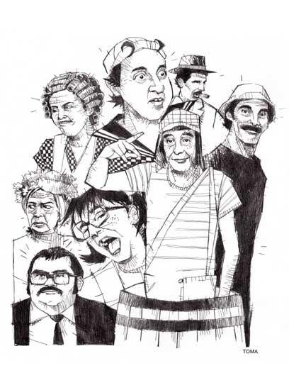 André Toma El Chavo Del Ocho Funny Mexican Pins Drawings Art