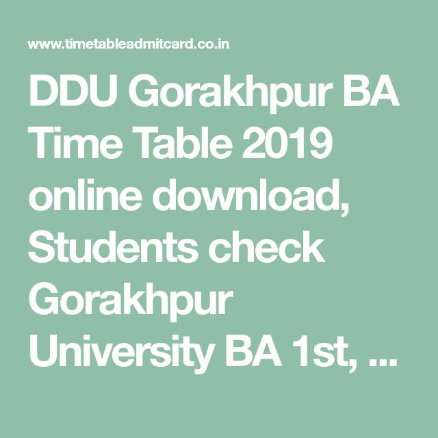 Ddu Exam Time Table 2016 Pdf