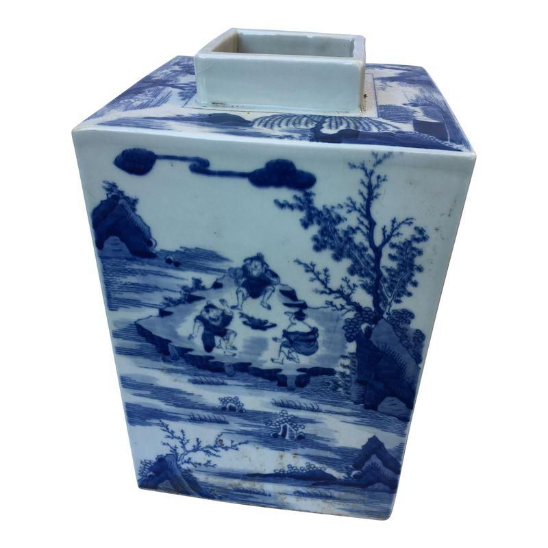 Blue White Square Chinese Vase Products Pinterest Squares