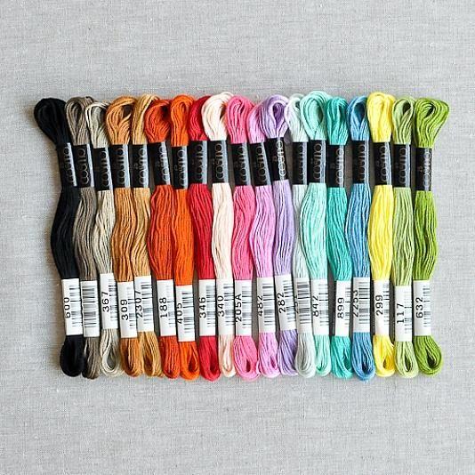 Cosmo Embroidery Floss Palette Springtime Sampler Floss Palette
