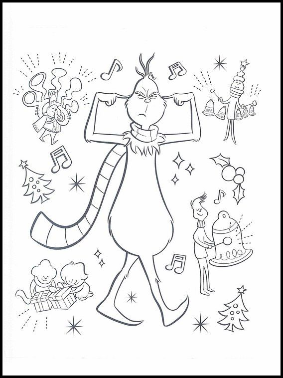 The Grinch 5 Printable coloring pages for kids | Grinch ...