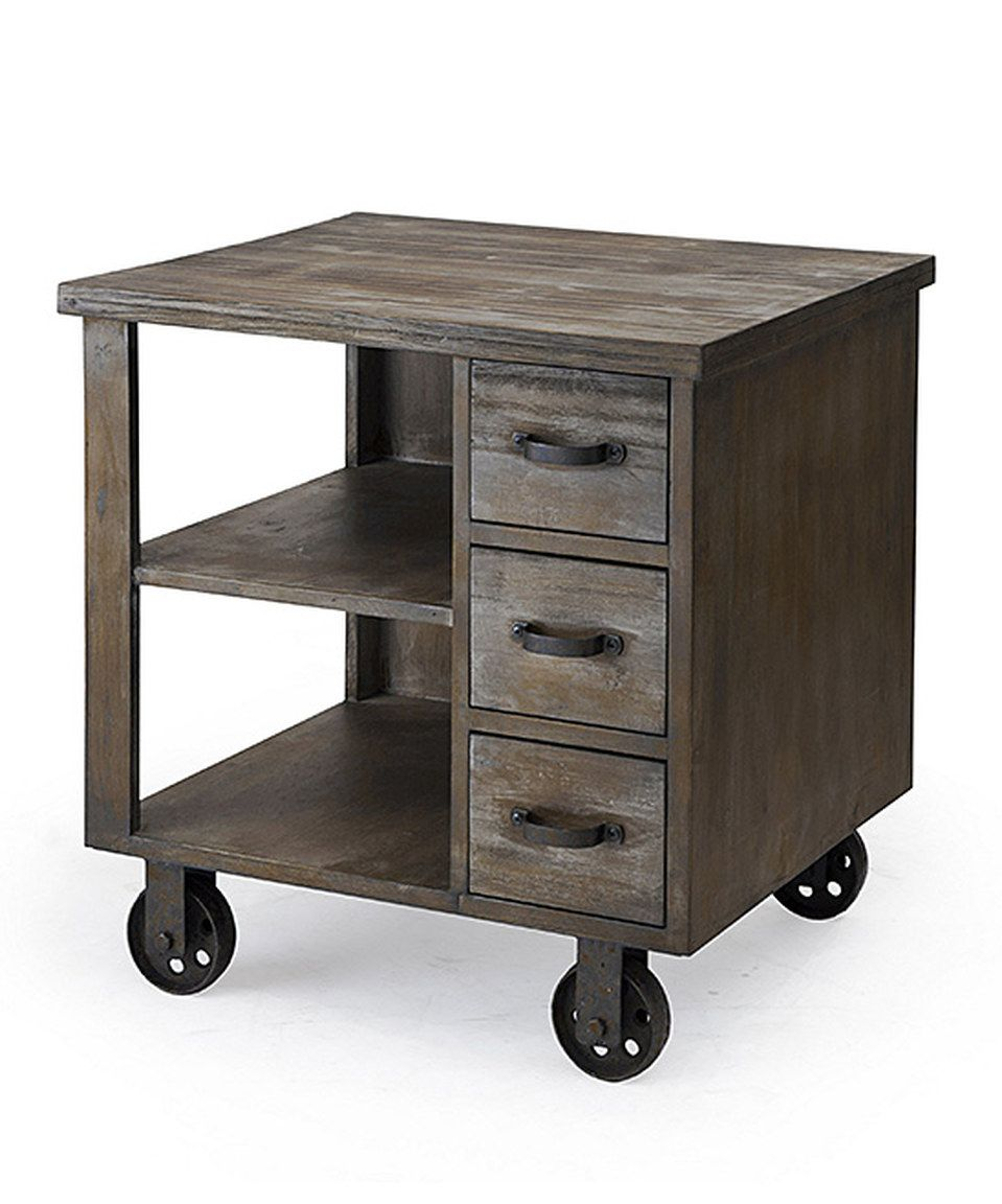 Another great find on #zulily! Liam Rolling End Table by JLA Home #zulilyfinds