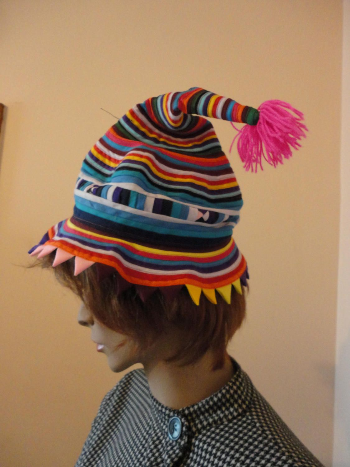 Handmade Ethnic Pointy Hat by javals on Etsy