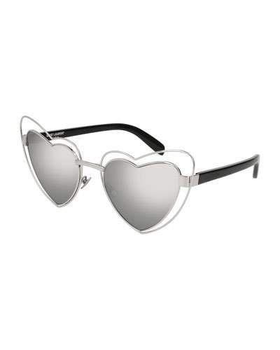 5d34db01a4a8 Lou Lou Heart-Shaped Sunglasses Silver | Products | Heart shaped ...