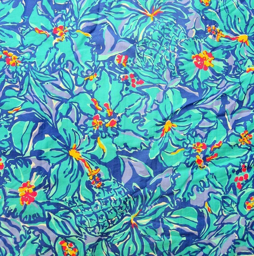 Lilly Pulitzer Cotton Poplin Fabric IRIS MAI TAI 1 Yard