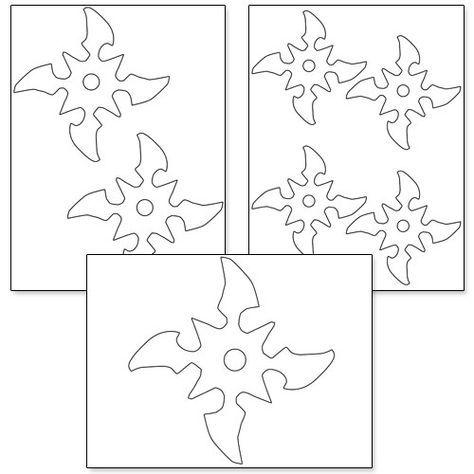Printable Ninja Star Template More | ninjago | Pinterest | Star ...