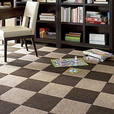 Peel Stick Carpet Tiles 80 Pieces Chocolate Improvements By
