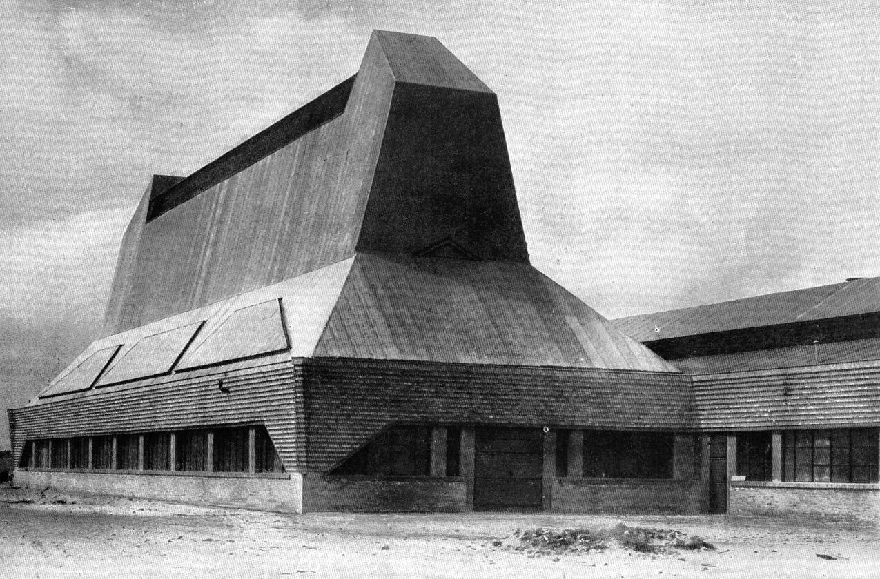 Friedrich Steinberg, Herrmann & Co. Hat Factory, Luckenwalde (Germany), Erich Mendelsohn, 1922-23