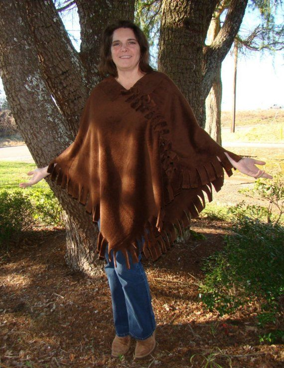 Luxurious Mink Fleece Poncho by DonnasDesignsSC on Etsy