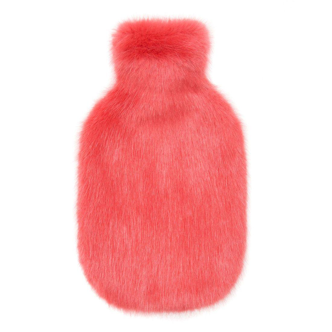 Coral faux fur hot water bottle 54 hot water bottle