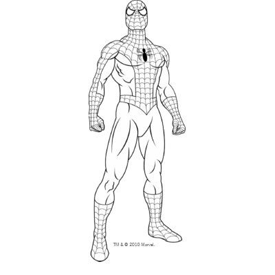 Spiderman Standing Google Search Spiderman Coloring Spiderman