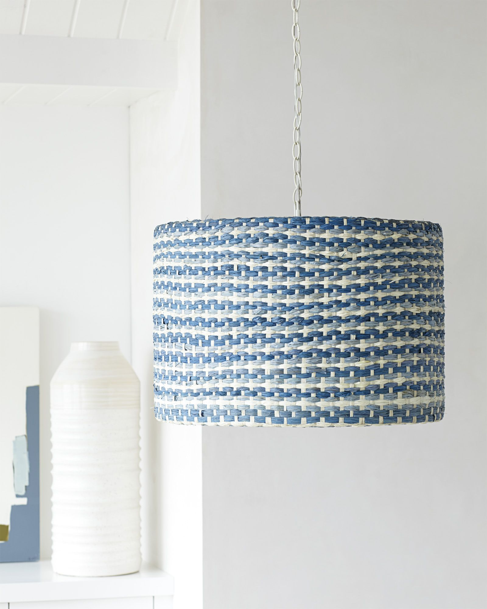 Beach House Pendant Blue And White Woven Serena Lily