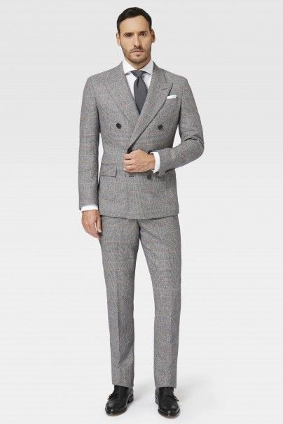 Over Check Double Breasted Suit - Suits - Shop By Product - Men ...
