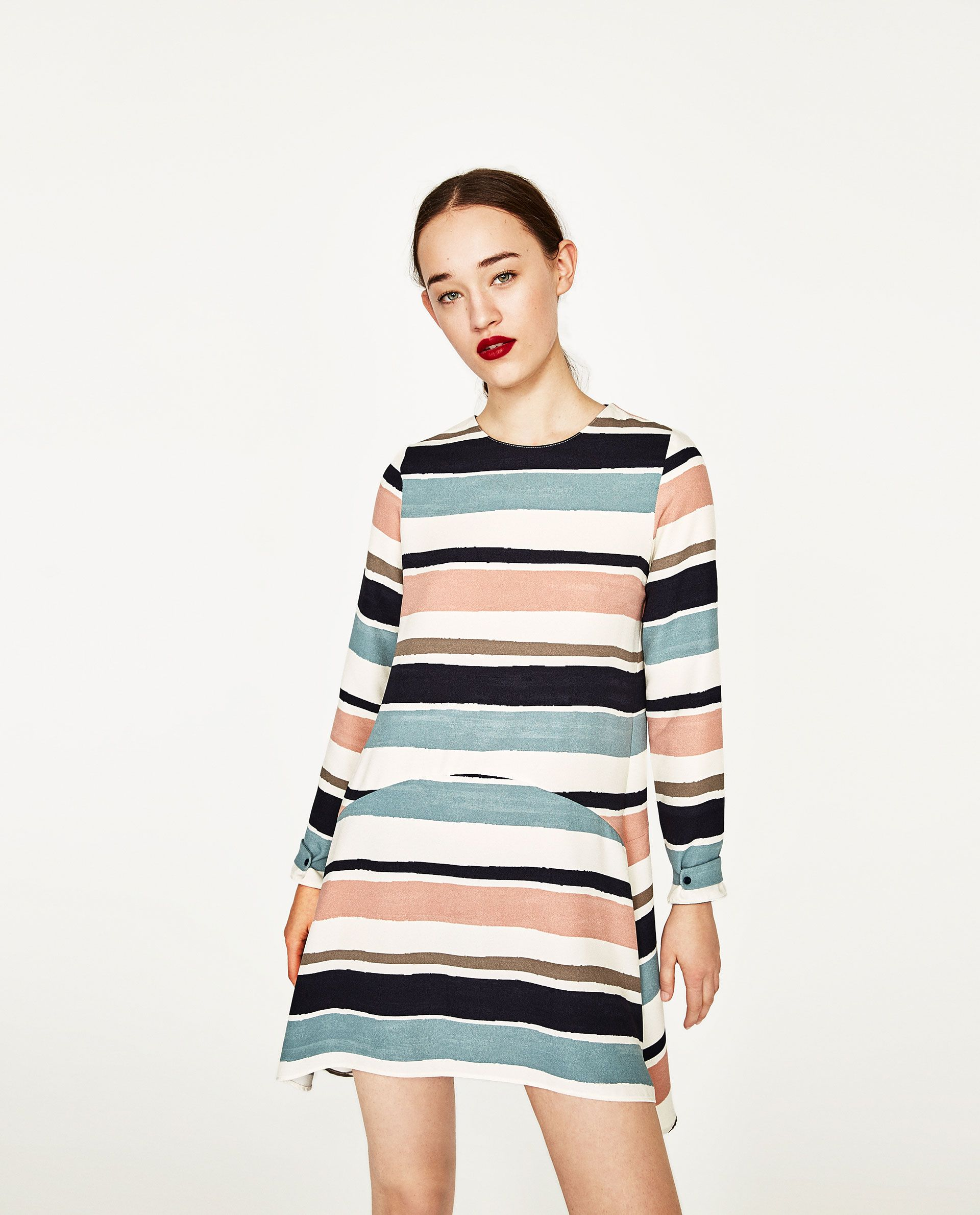 4ab2a454 Image 2 of STRIPED FLOUNCE DRESS from Zara | Final Project | Dresses ...
