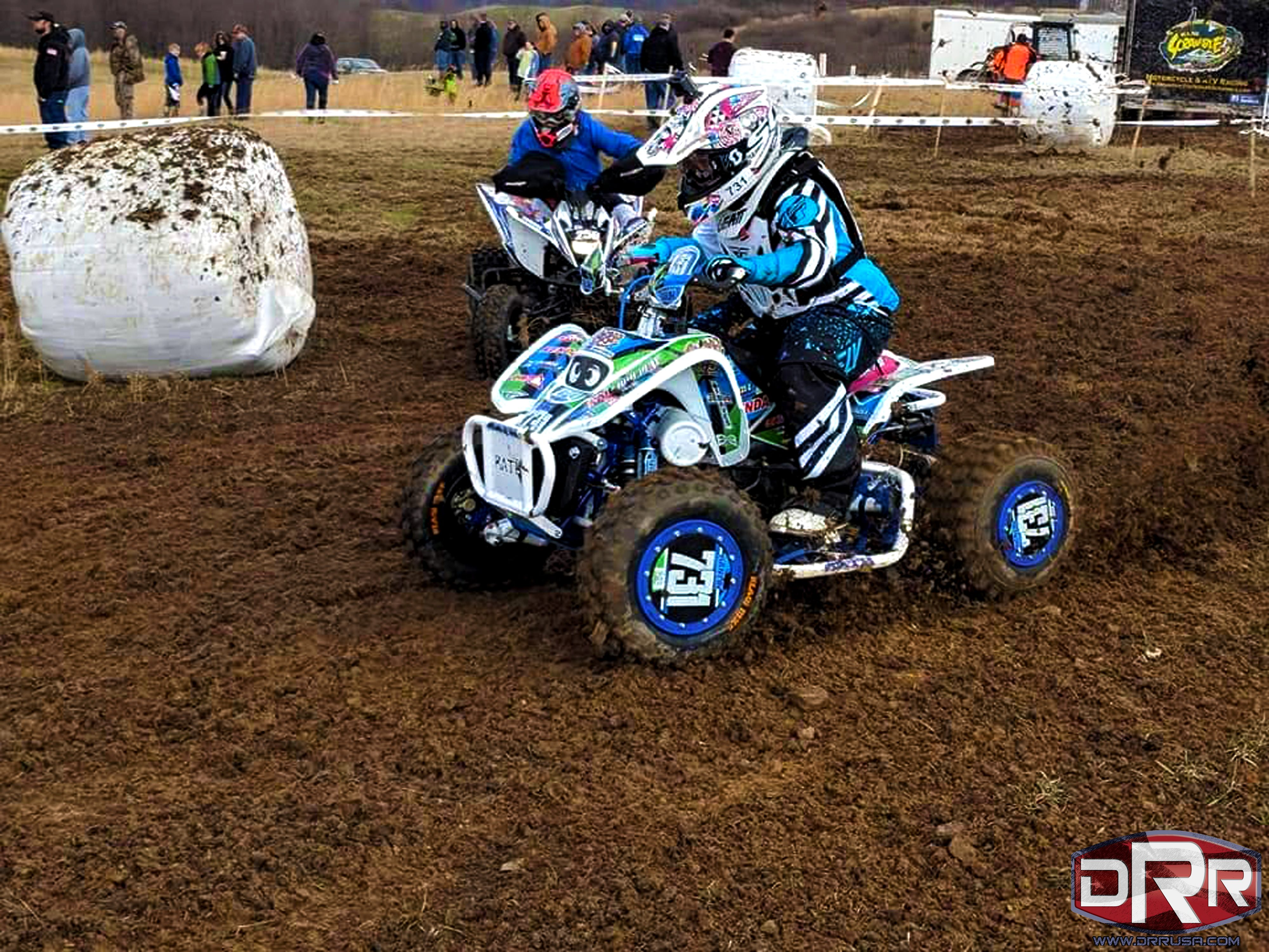 small resolution of emily hanlin at the mountain state harescramble on 3 31 18 riding her drr drx 90cc atv