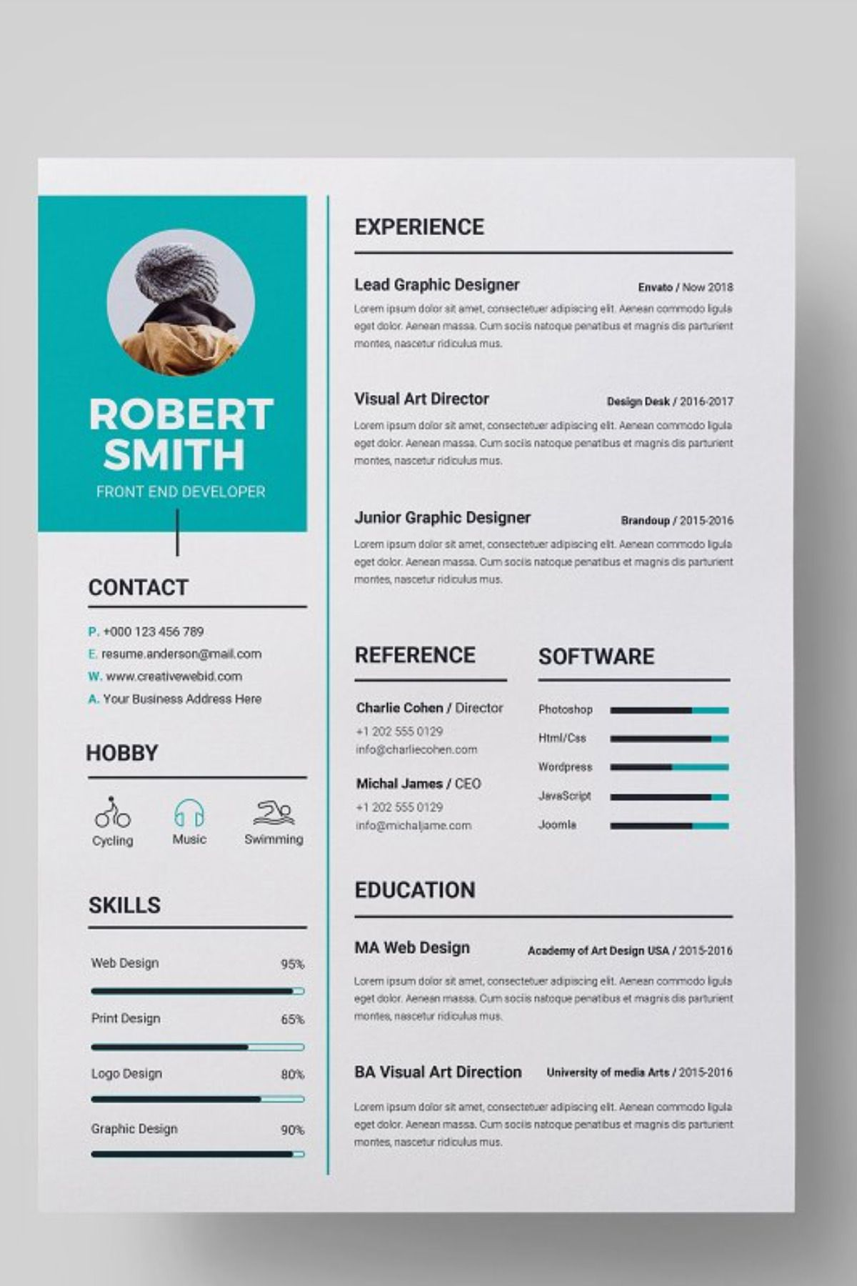 Resume Resume references, Resume template, Cv template word