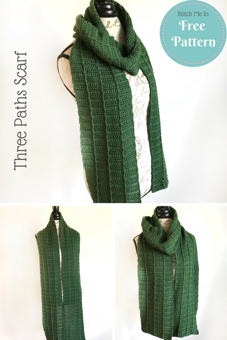 Three Paths Scarf - Free Crochet Pattern | Free & Easy Crochet ...