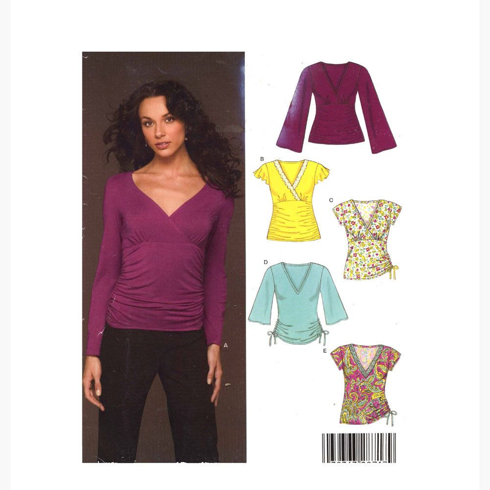 New Look 6430 Casual Stretch Knit Yoga Top Sewing Pattern