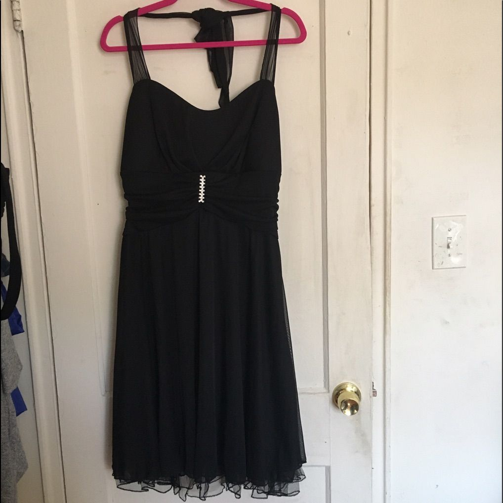 Plus size little black formal dress x stretchy products