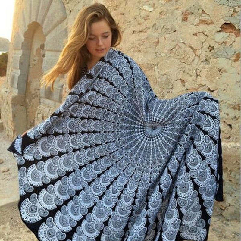 I love This Round beach Blanket throw. I will use for the