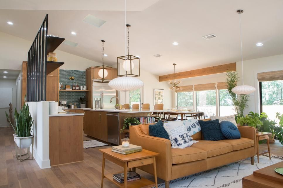 Best Open Concept Mid Century Modern Kitchen And Living 400 x 300