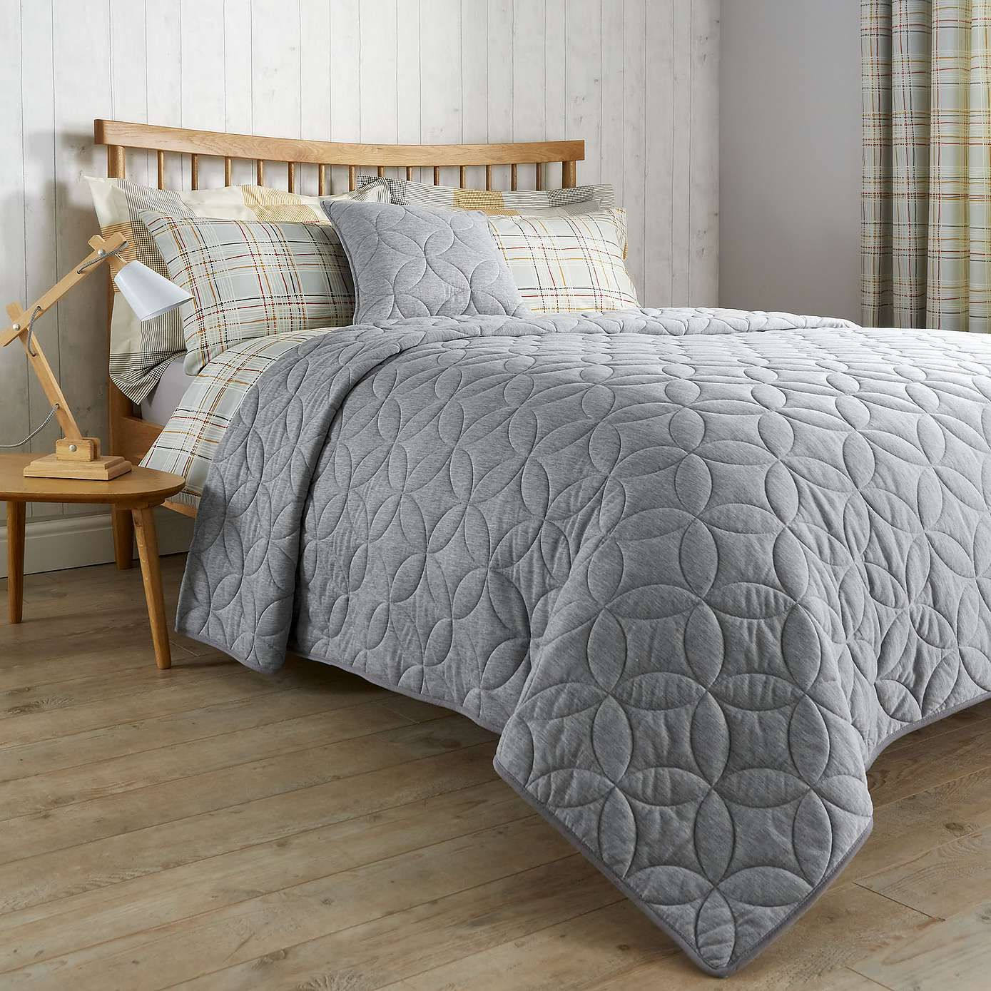 Elements Grey Quilted Bedspread Dunelm Bed Spreads Quilted Master Bedroom