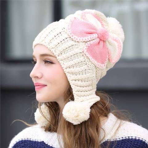 2ea3babc Pin by BUYHATHATS LIMITED on womens winter hats with ear flaps knit ...