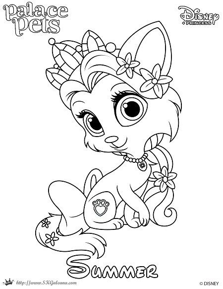 Free Coloring Page Featuring Summer From Disney S Princess Palace