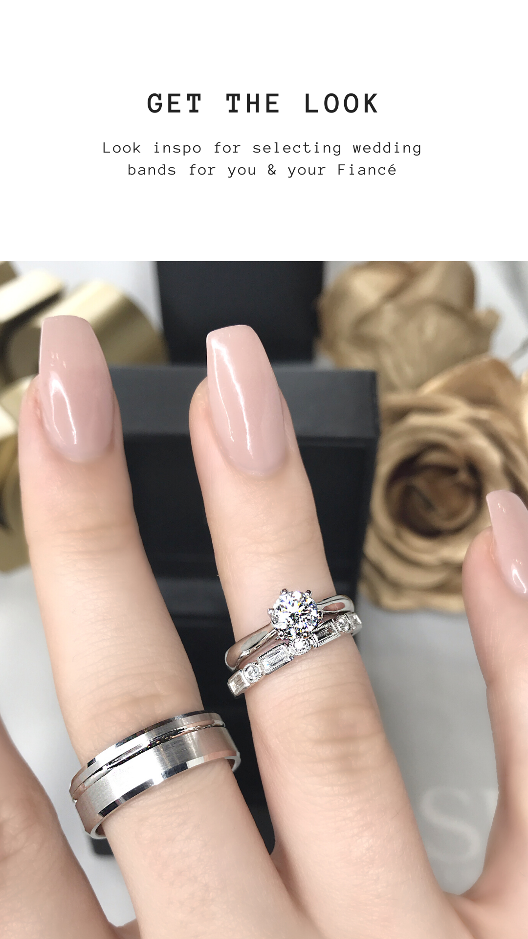 Look Inspo if you're looking for a #WeddingBand. Use our Virtual Try on!