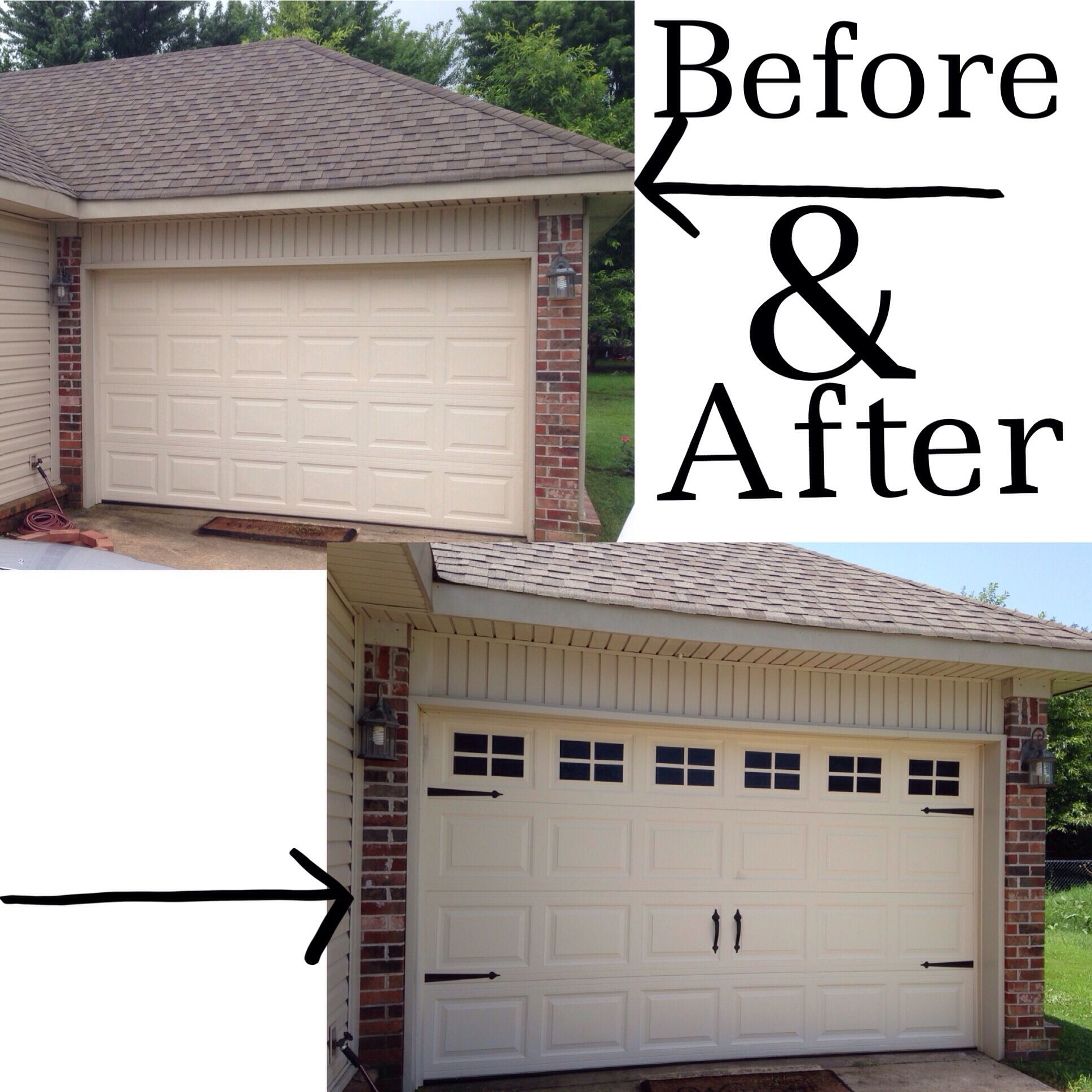 Fast and easy way to dress up the garage door and add curb appeal fast and easy way to dress up the garage door and add curb appeal to your rubansaba