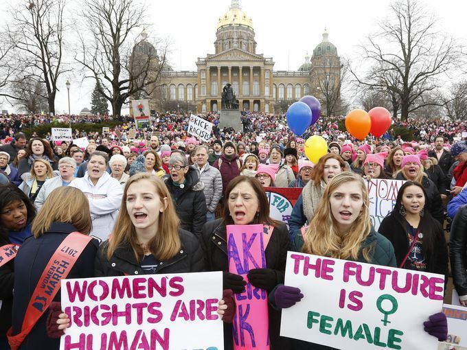 30 Photos Iowa Women S March In Des Moines Women American
