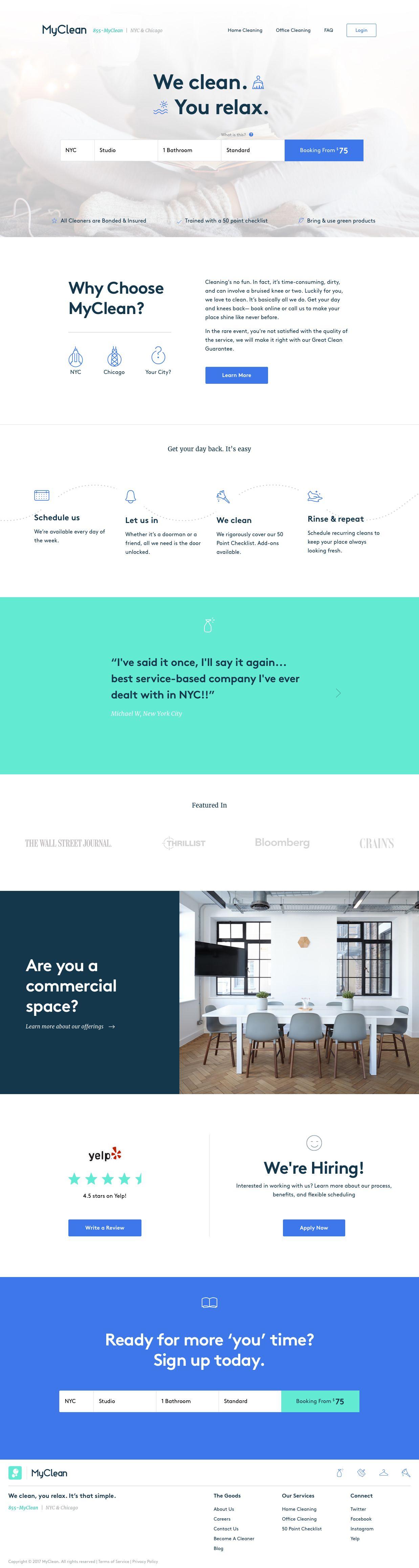 Myclean Landing Page Design Inspiration Design Web Design Projects Web Design Inspiration